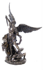 SAINT MICHEL FACON BRONZE STATUE SCULPTURE