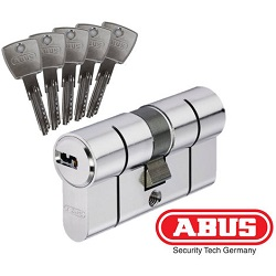 CYLINDRE SERRURE HAUTE SECURITE ABUS 5 CLES REF. D6PS