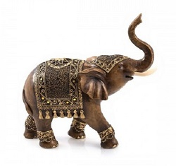 ELEPHANT TISHYA FACON BRONZE STATUE SCULPTURE
