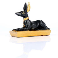ANUBIS ALLONGE SCULPTURE STATUE