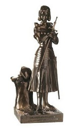 JEANNE D ARC BRONZE STATUE SCULPTURE