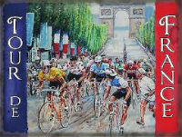 PLAQUE METAL TOUR DE FRANCE 15/20 CMS